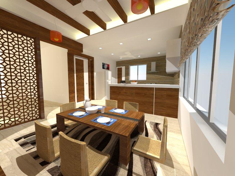 Contemporary dining hall by Sunil Sathe Contemporary   Interior Design Photos & Ideas