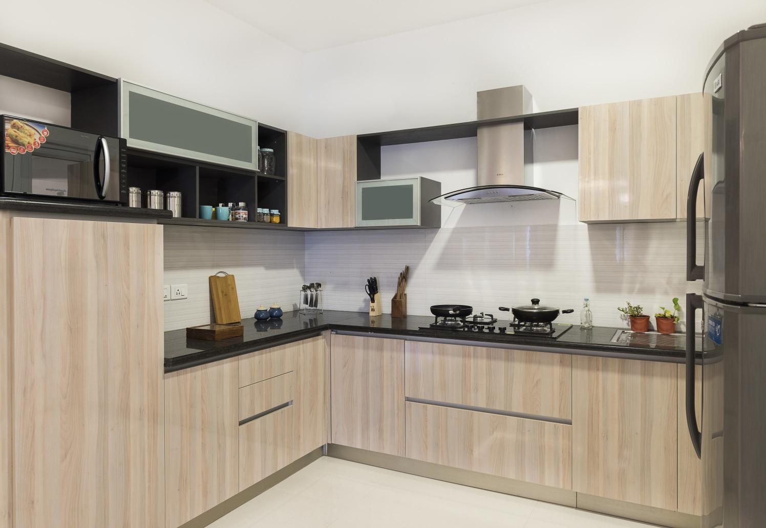 The Veneered Kitchen by HomeLane Modular-kitchen Modern | Interior Design Photos & Ideas