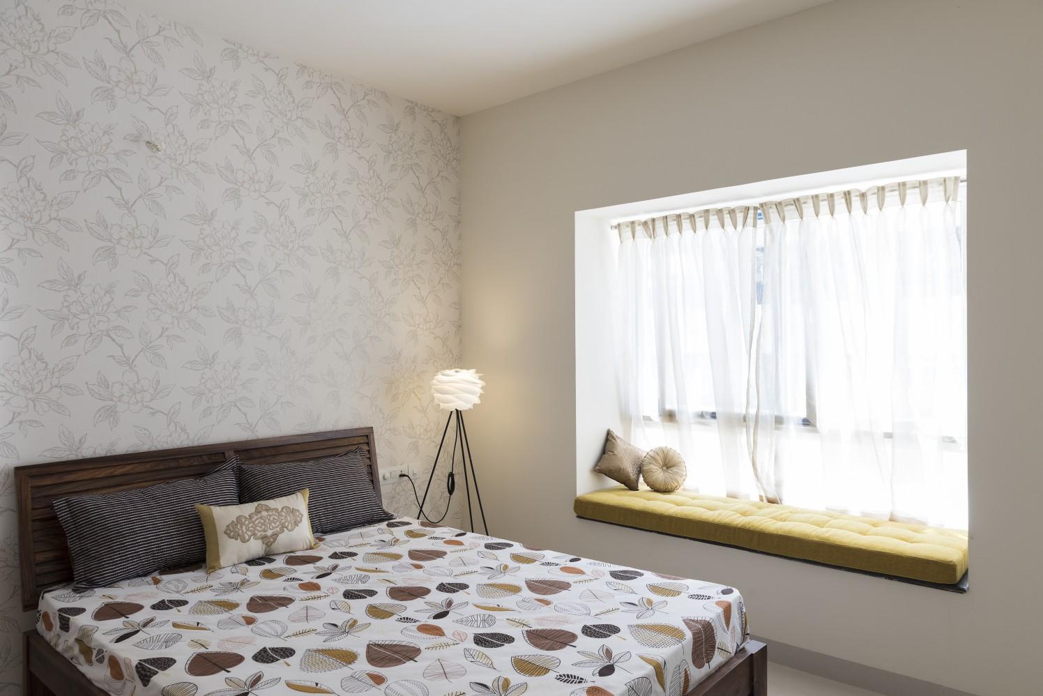 The Veneer Contrast by HomeLane Bedroom Contemporary | Interior Design Photos & Ideas