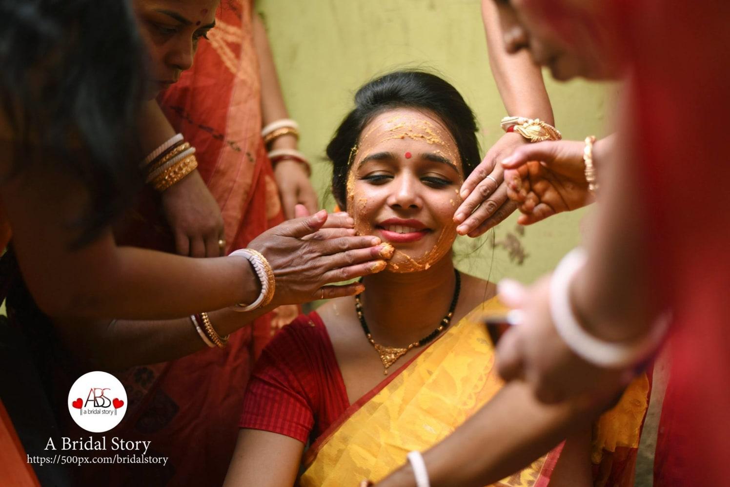 Haldi custom by A Bridal Story Wedding-photography | Weddings Photos & Ideas