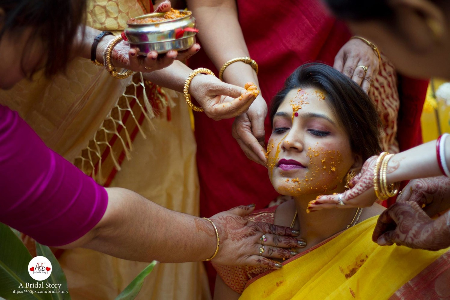 Smearing haldi! by A Bridal Story Wedding-photography | Weddings Photos & Ideas