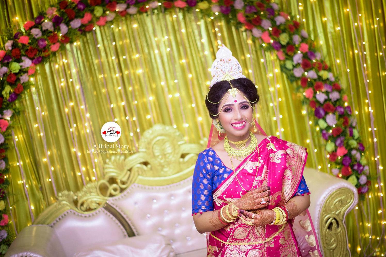 Striking bengali bride by A Bridal Story Wedding-photography | Weddings Photos & Ideas