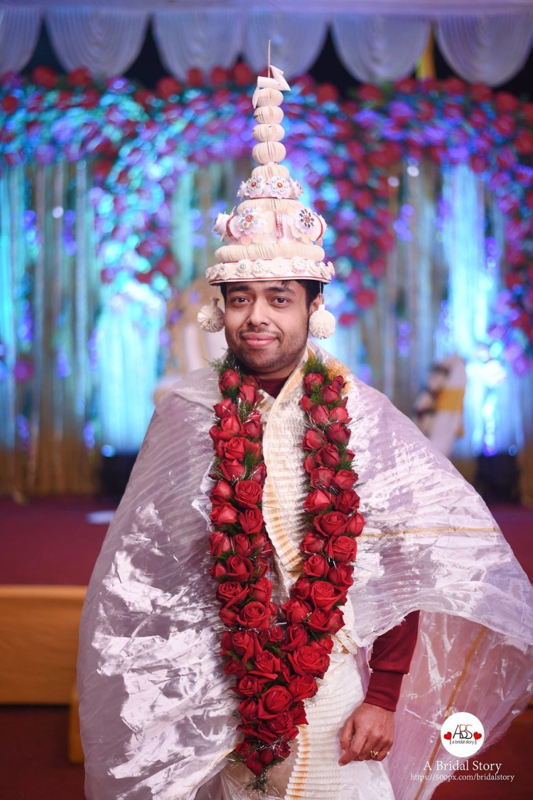 Conventional bengali groom's gape by A Bridal Story Wedding-photography | Weddings Photos & Ideas