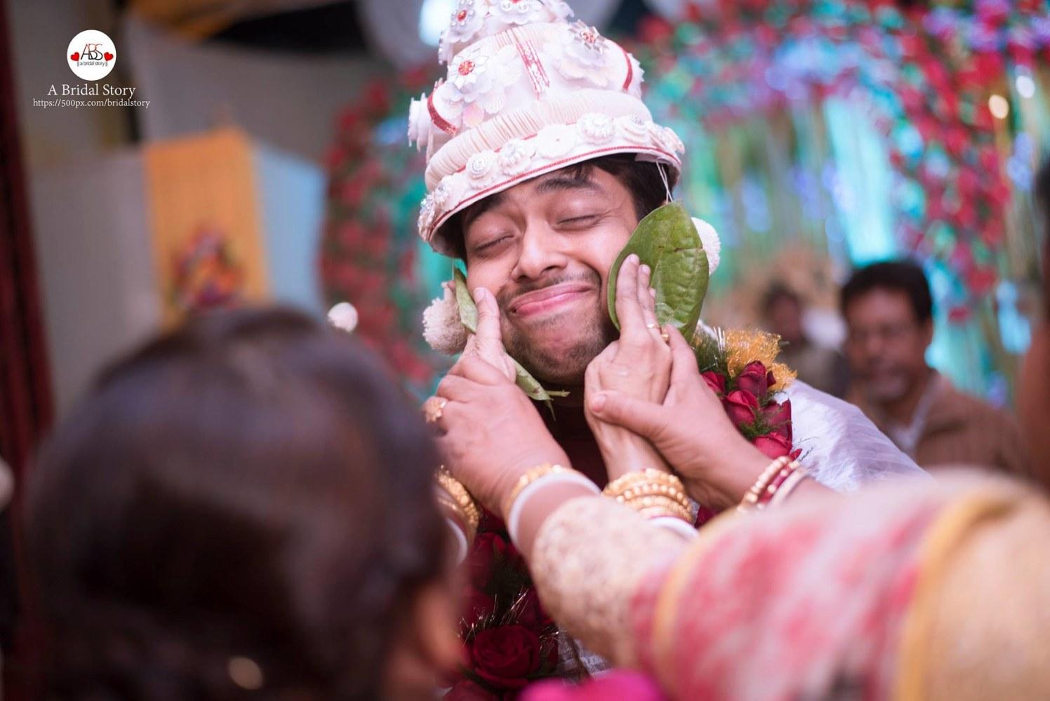 Comical gape of groom by A Bridal Story Wedding-photography | Weddings Photos & Ideas