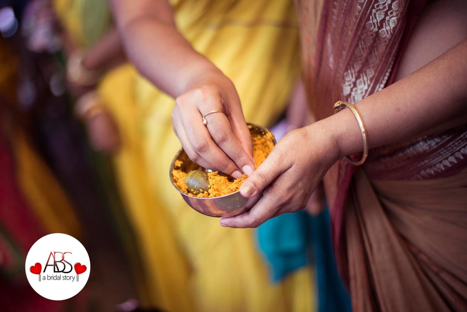 The gaze of haldi by A Bridal Story Wedding-photography   Weddings Photos & Ideas