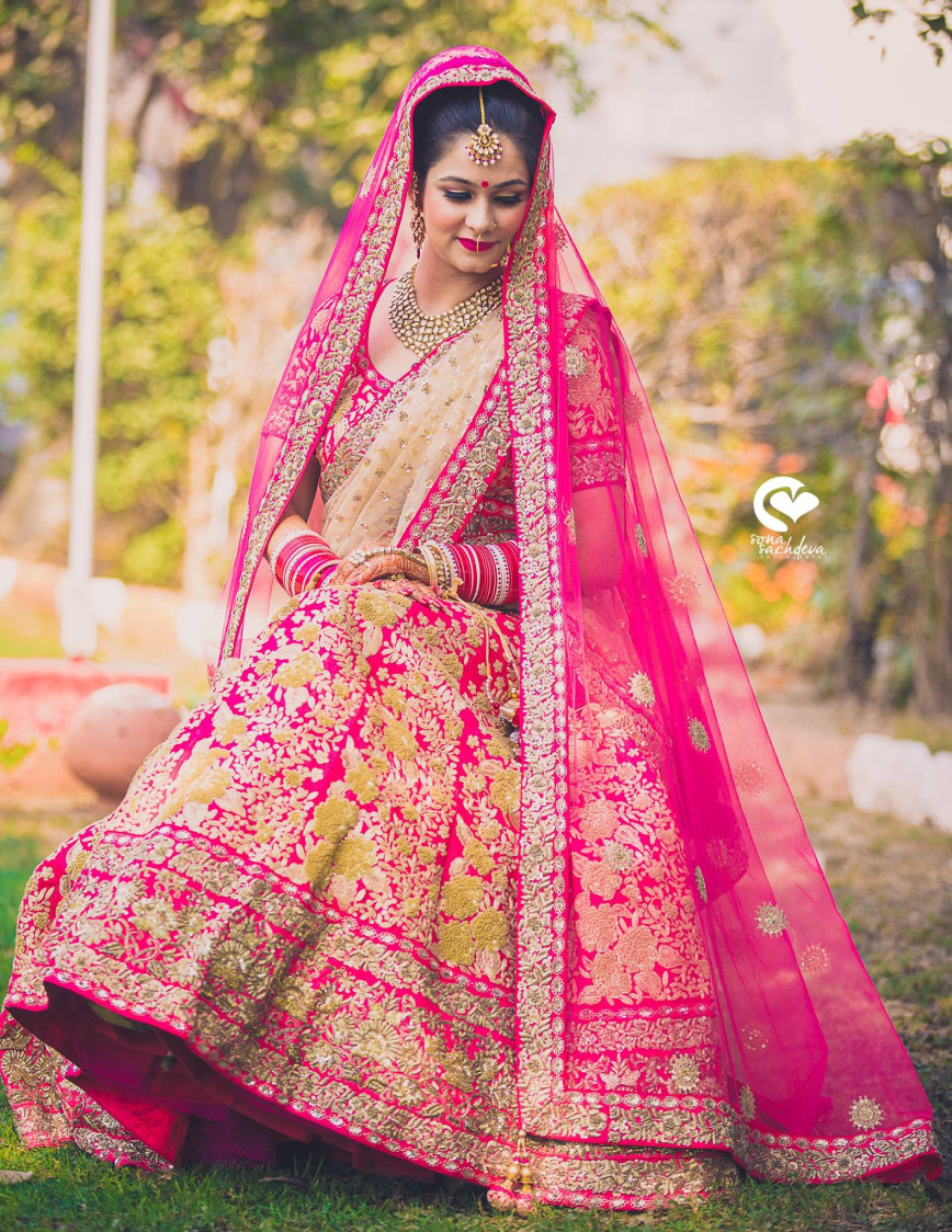 Tickled pink bride by Sona Sachdeva Photography Wedding-photography | Weddings Photos & Ideas