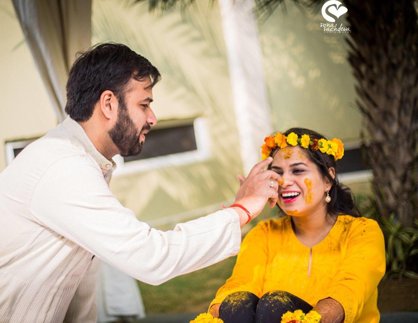 Mirthful haldi ceremony by Sona Sachdeva Photography Wedding-photography | Weddings Photos & Ideas