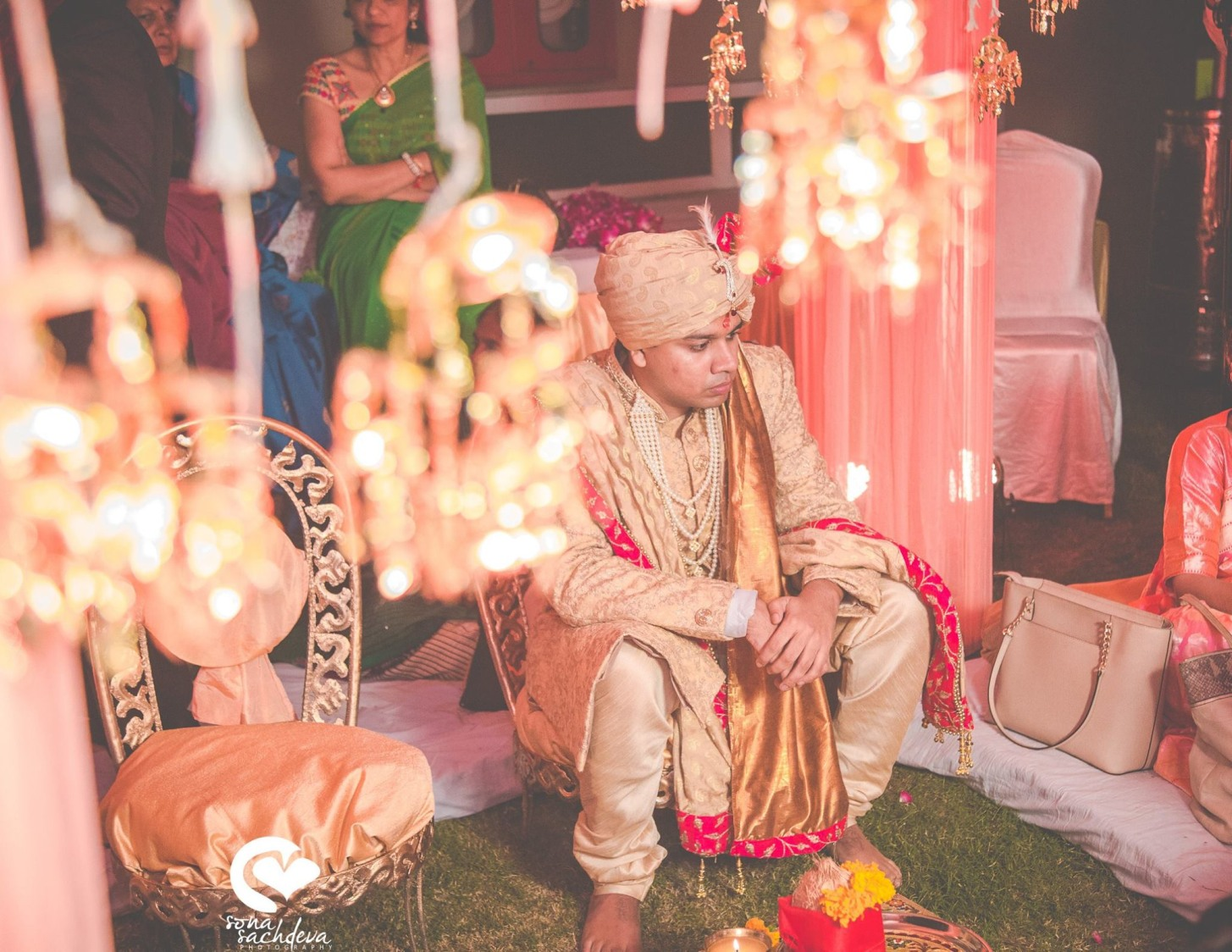 Gilded groom by Sona Sachdeva Photography