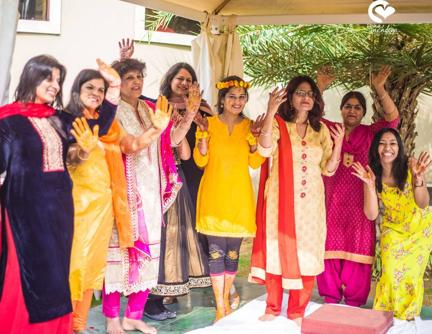 The bride's team by Sona Sachdeva Photography