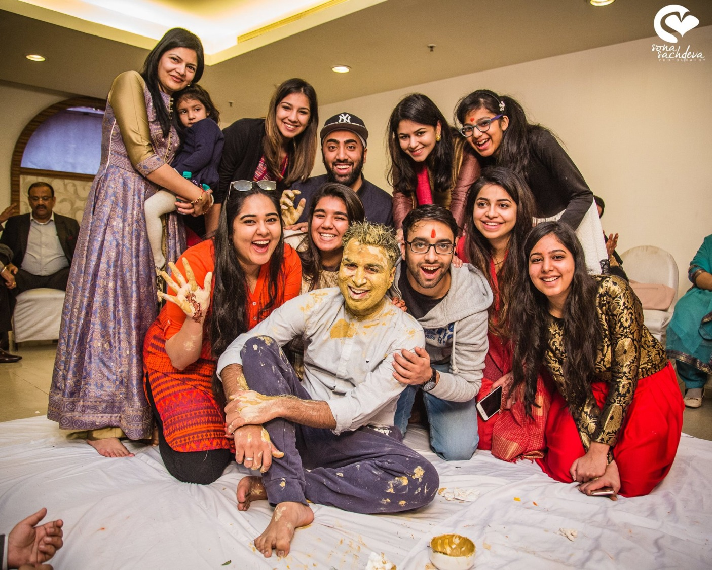 Jubilant haldi ceremony by Sona Sachdeva Photography Wedding-photography | Weddings Photos & Ideas
