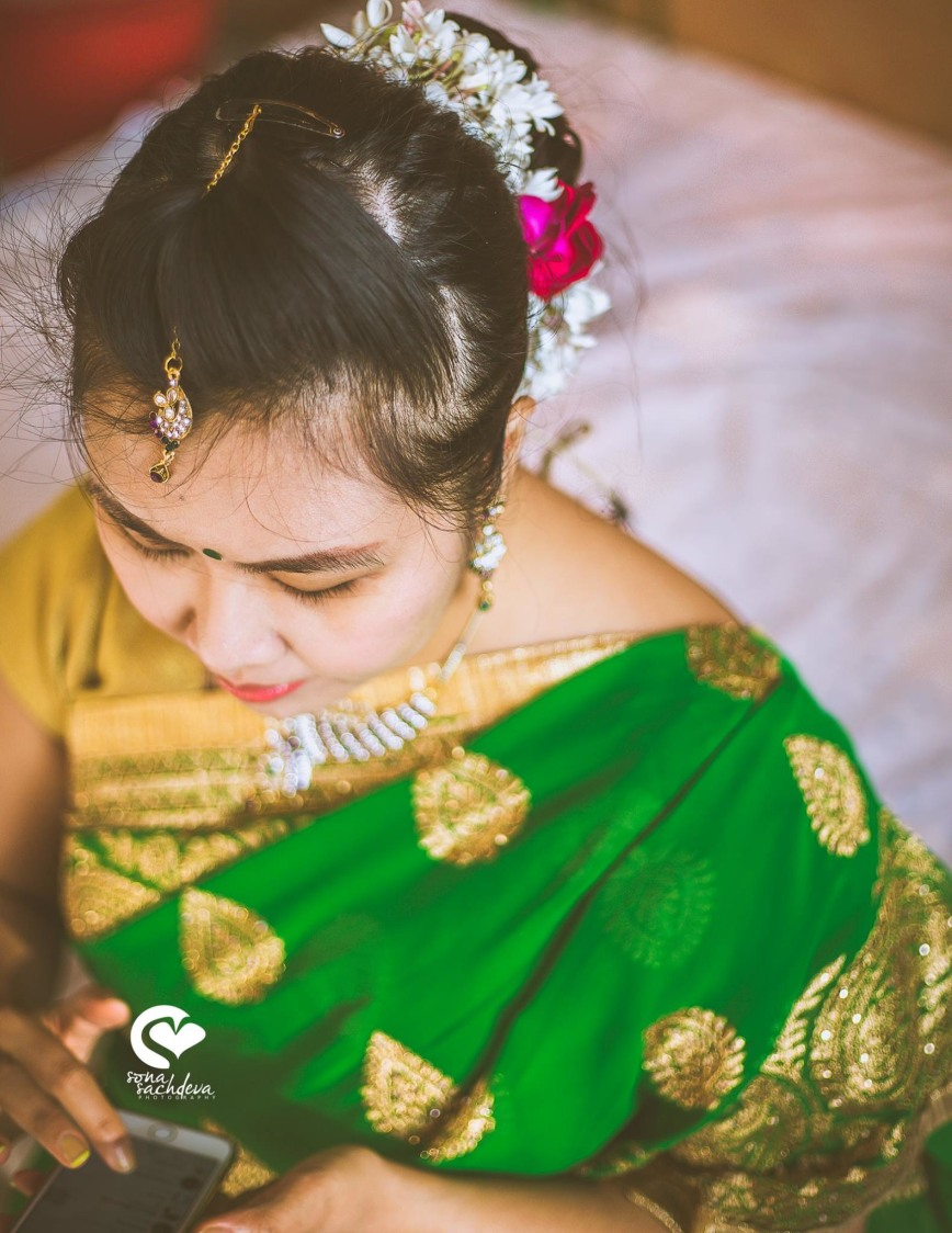 Pretty embellished bride to be by Sona Sachdeva Photography Wedding-photography | Weddings Photos & Ideas