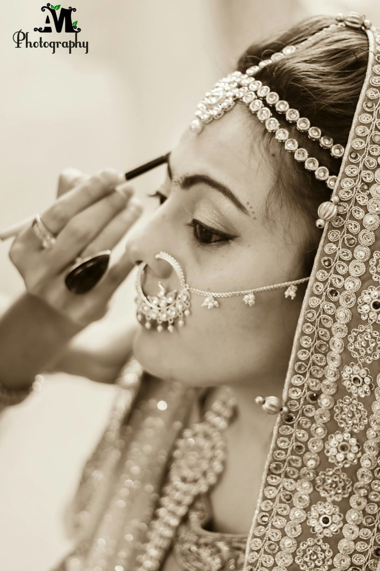 Getting the brows done! by Abhishek Modi Photography Wedding-photography | Weddings Photos & Ideas