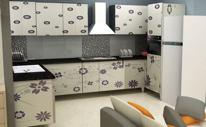 3d Kitchen Design By The Midas Touch Interiors