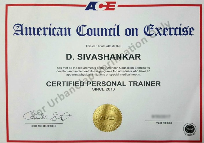 shiva | ace certified personal trainer in chennai - urbanclap