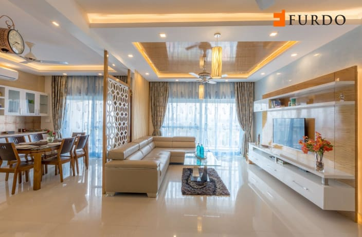 Living Room Design Ideas And Photos With False Ceiling