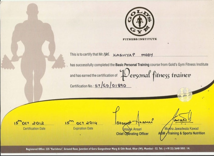 Gold S Gym Personal Trainer Course Fees Zenfitt