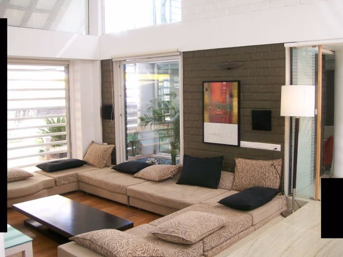 Modern Wood Living Room Design