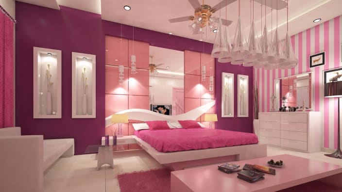 Premium Bedroom With Pink Shade