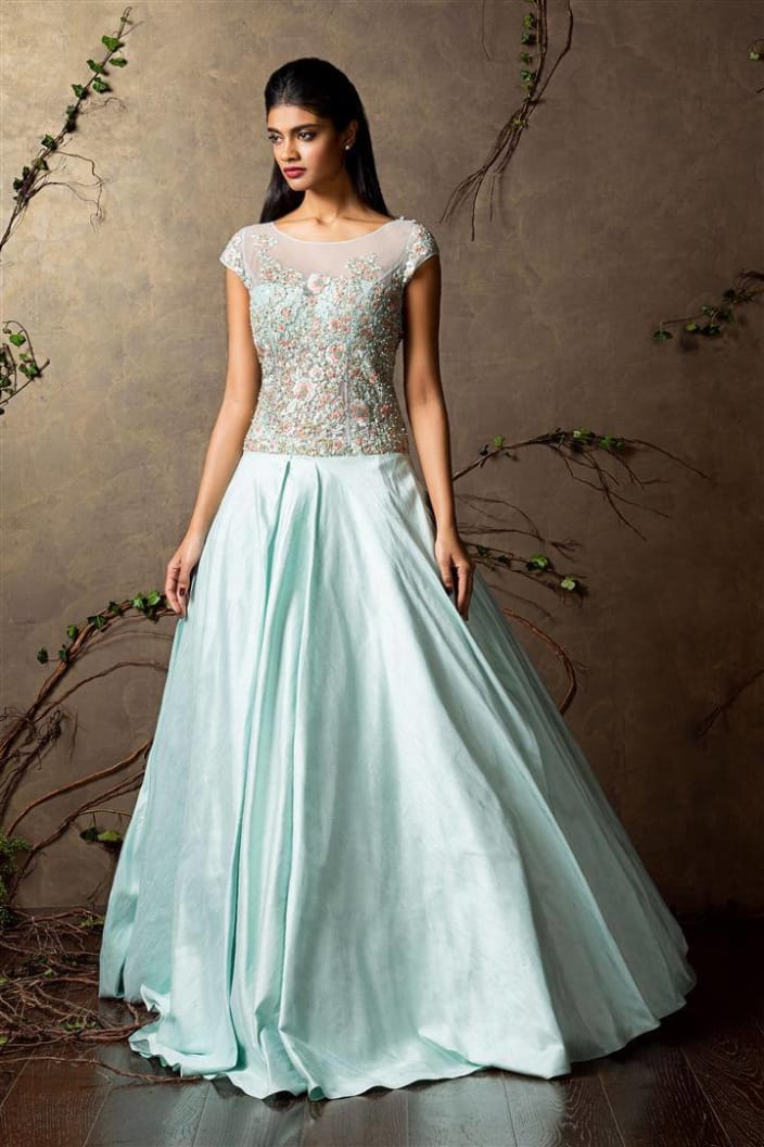 Wedding Dresses Design Ideas - Blue Gown - UrbanClap