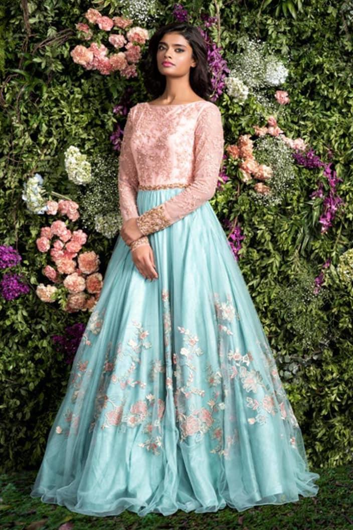 Wedding Dresses Design Ideas - Blue Gown - UrbanClap