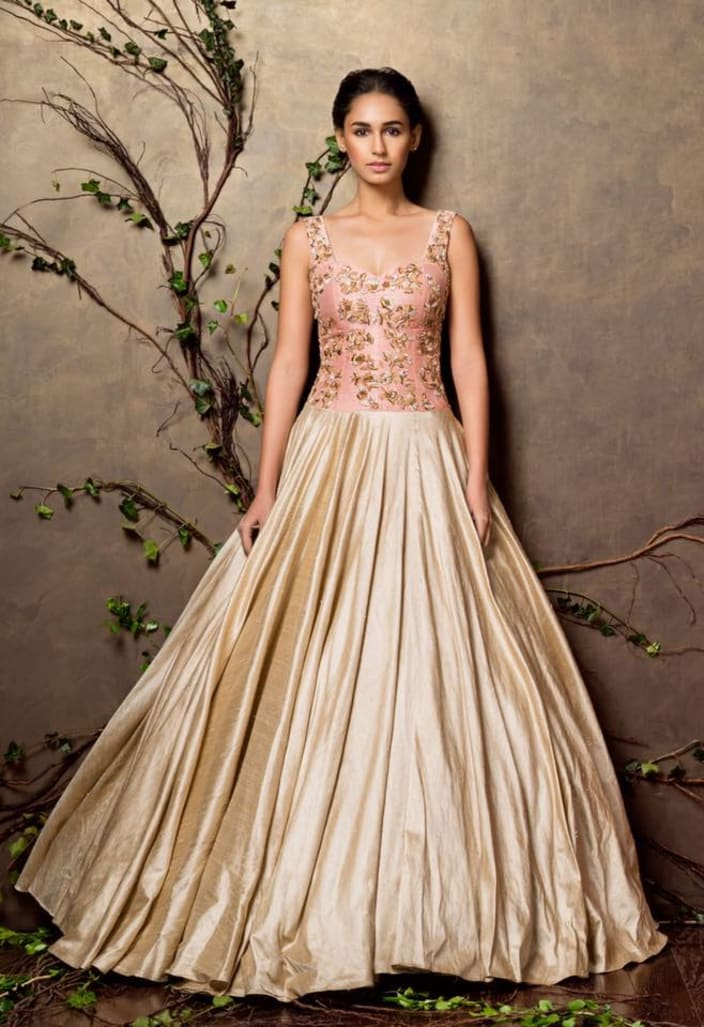 5a326a95c Powder Pink and Pastel Bridal Gown. By Shyamal & Bhumika