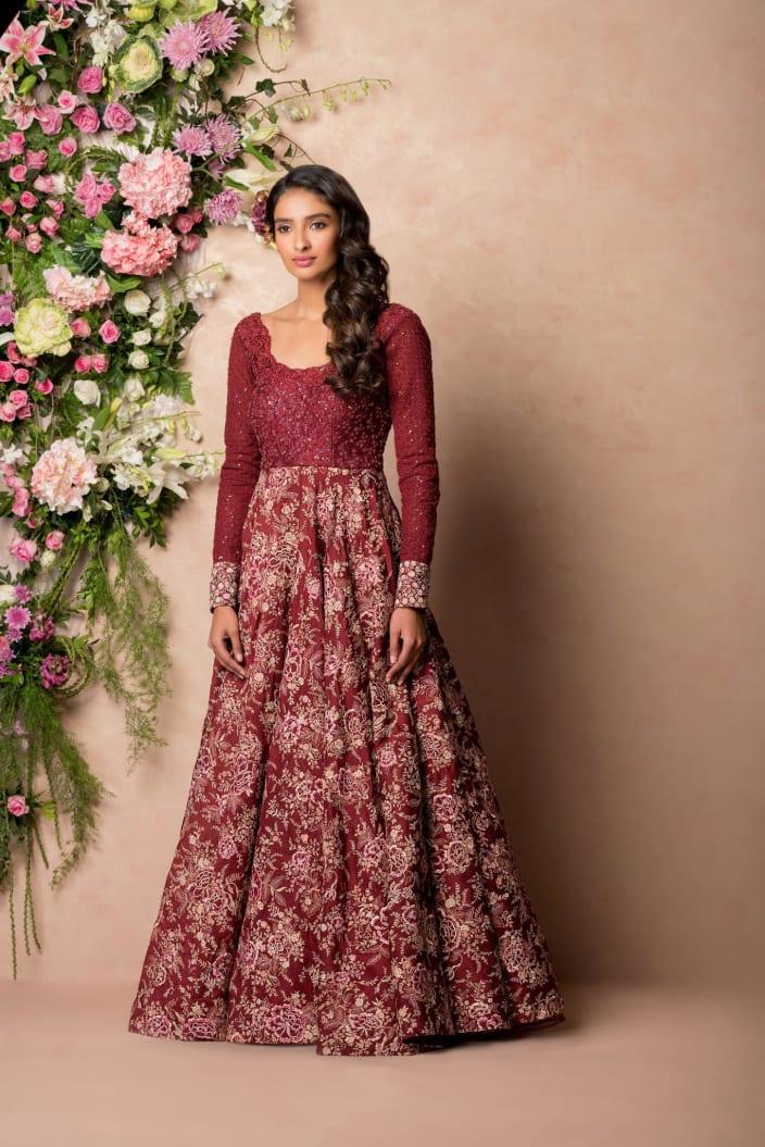 Wedding Dresses Design Ideas - Maroon - UrbanClap