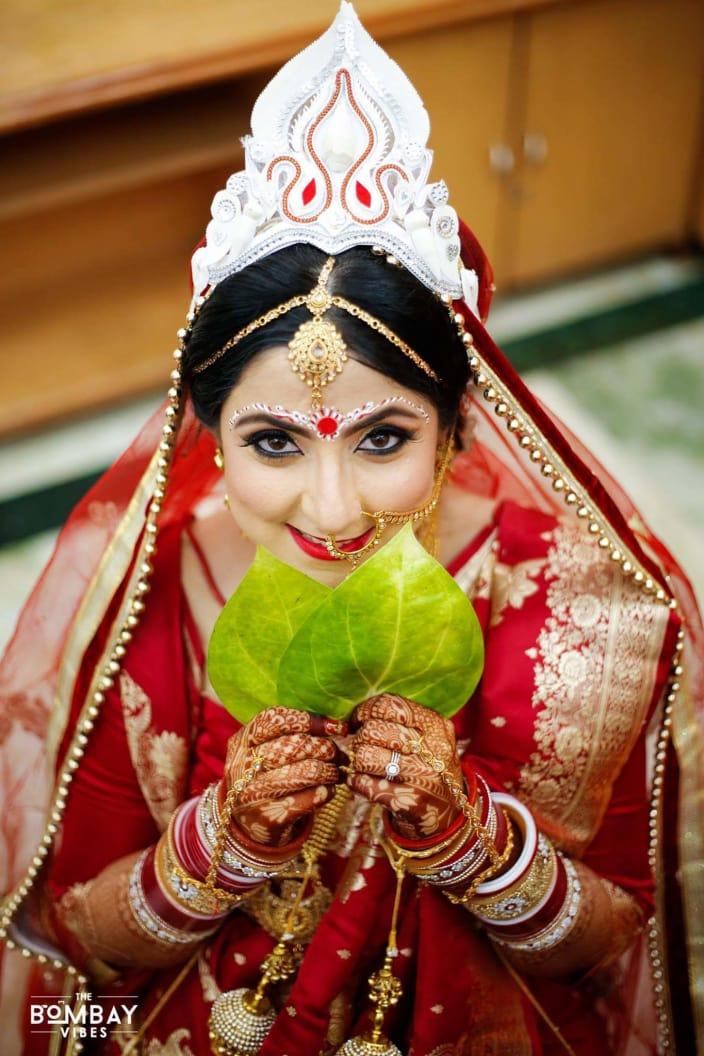 bengali bridal look