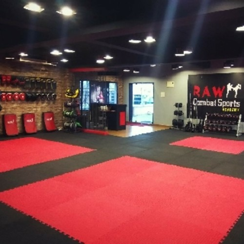 RAW COMBAT SPORTS fitness studio.