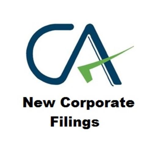 New Corporate Filings