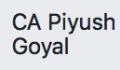 CA Piyush Goyal - Ca small business