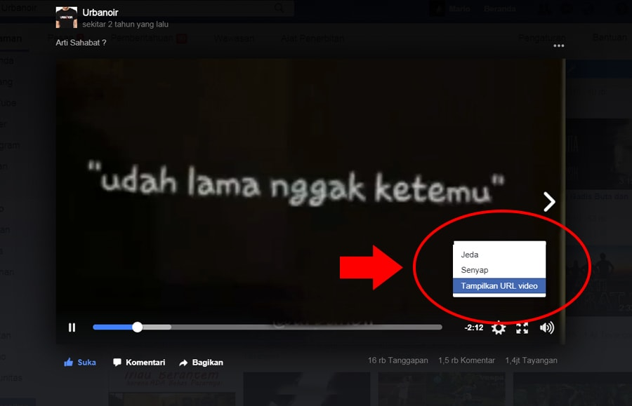 Cara Download Video yang ada di Facebook tanpa Software