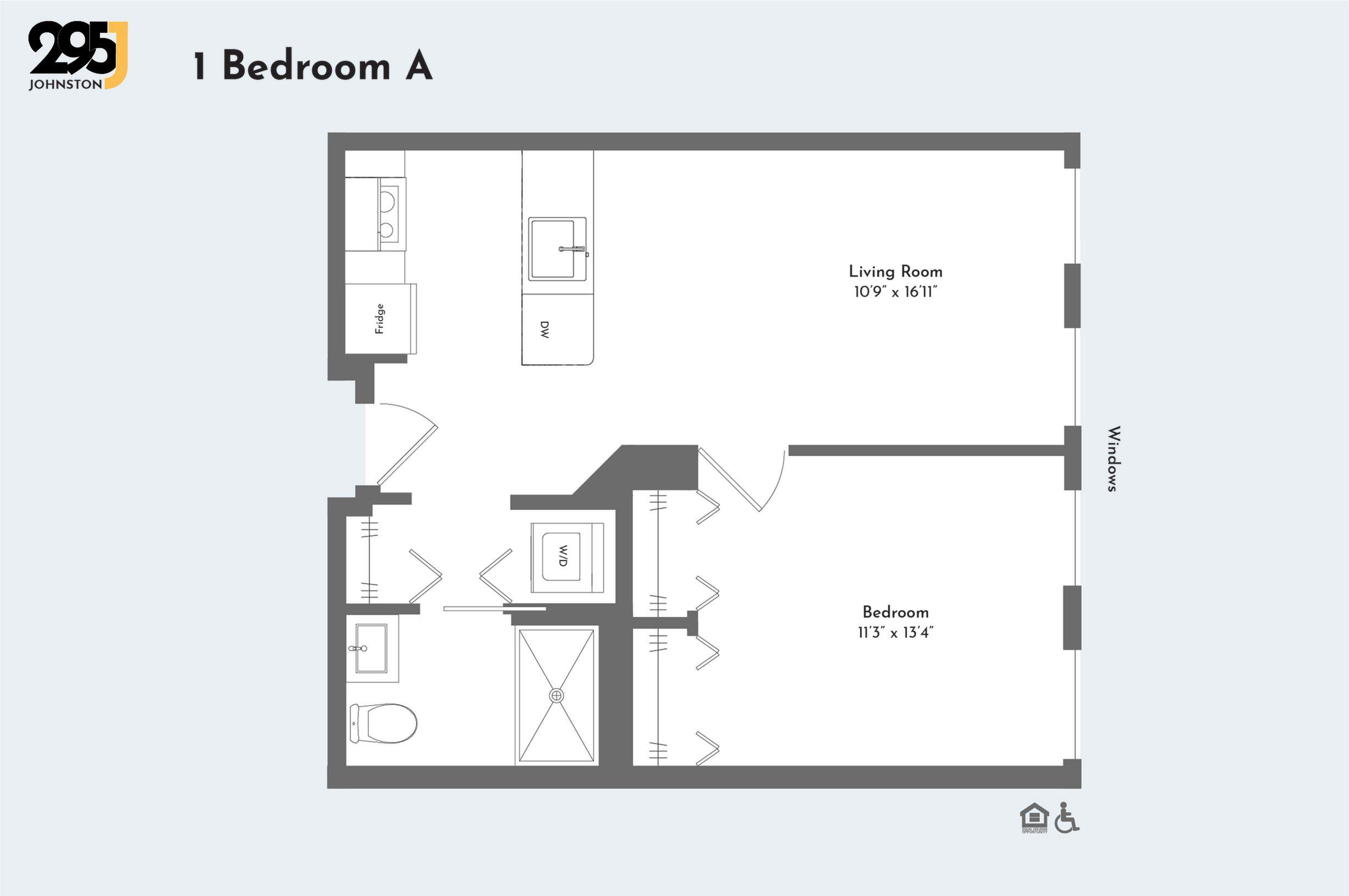 1 Bedroom A floorplan