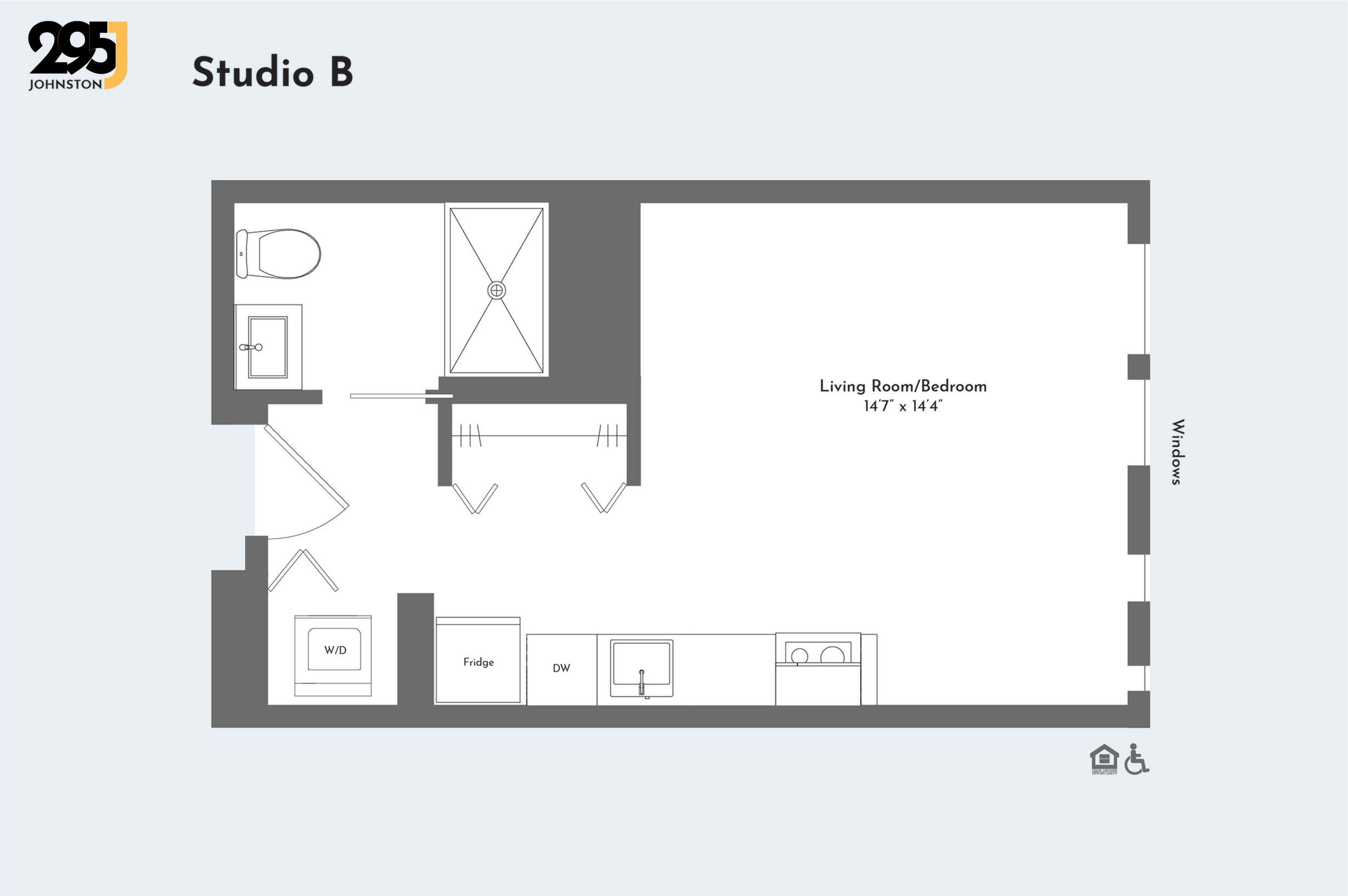 Studio B floorplan