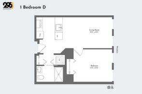 1 Bedroom D floorplan