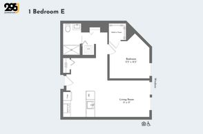 1 Bedroom E floorplan