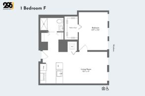 1 Bedroom F floorplan
