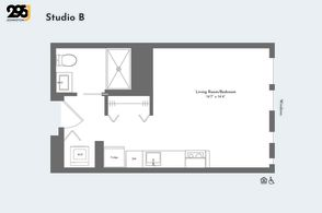 Studio B floorplan