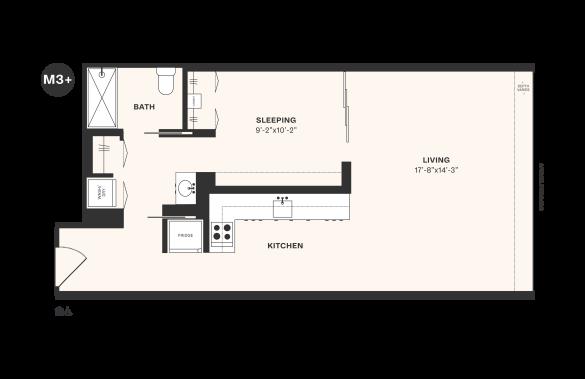 M3+ floorplan