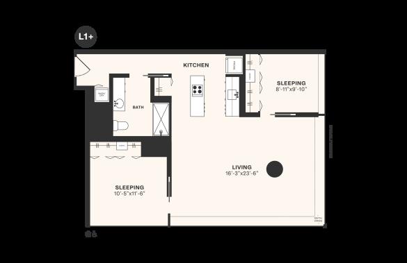 L1+ floorplan