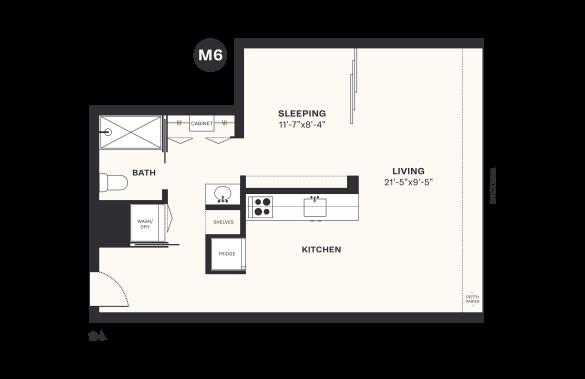 M6 floorplan