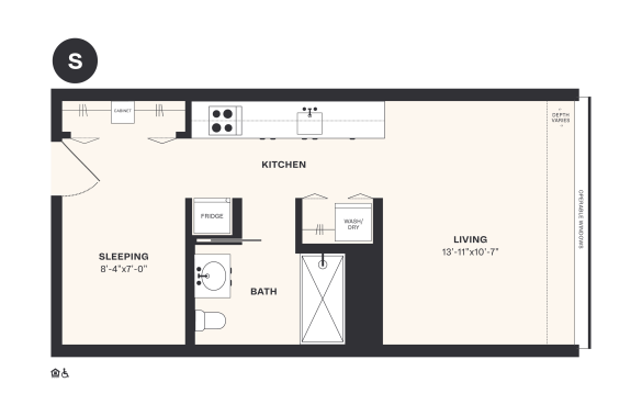S floorplan