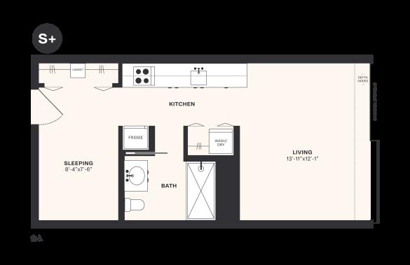 S+ floorplan