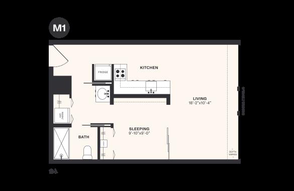 M1 floorplan