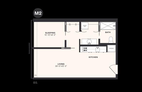 M2 floorplan