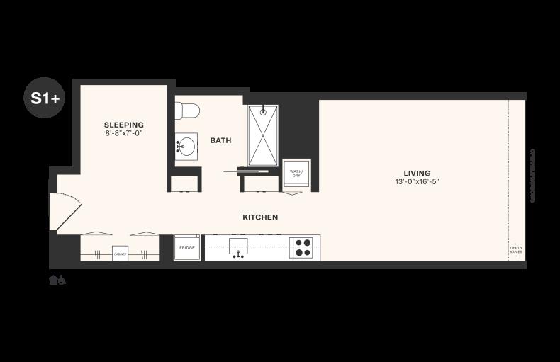 S1+ floorplan