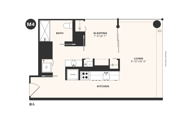 M4 floorplan