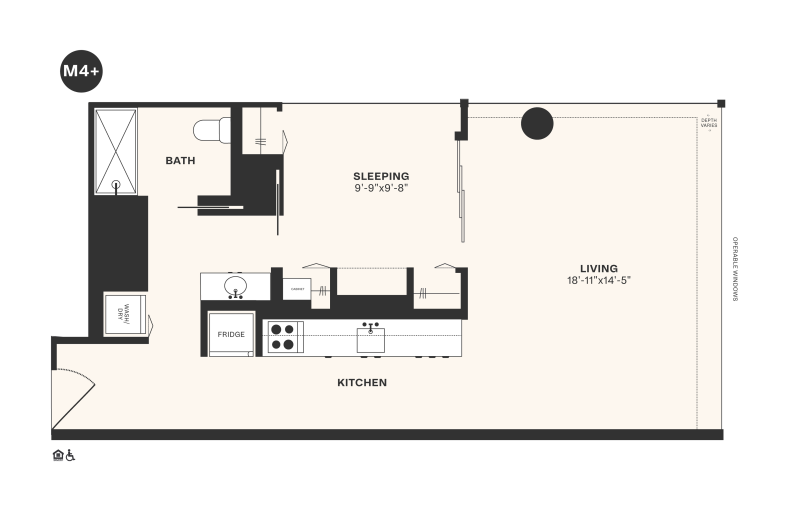 M4+ floorplan