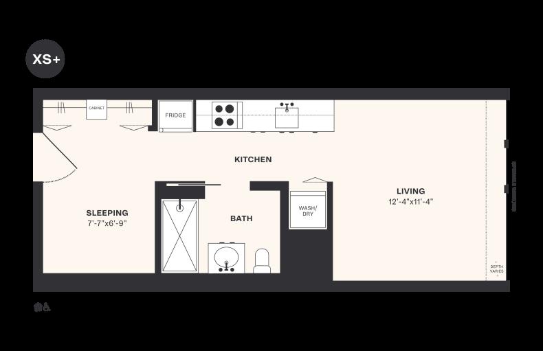 XS+ floorplan