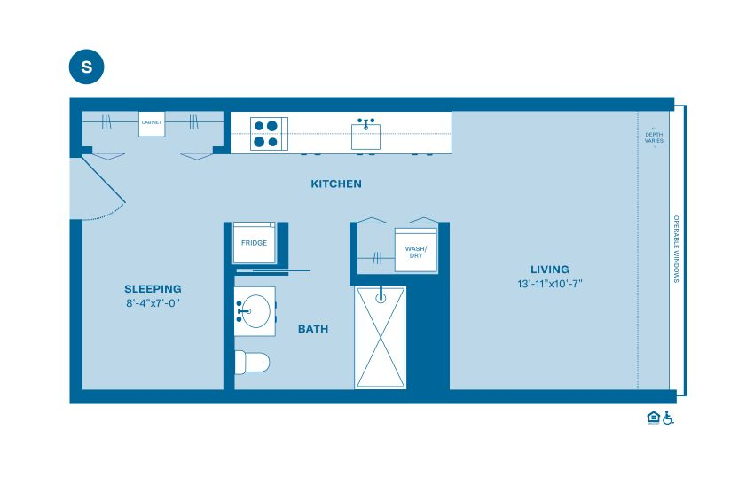 Example S floorplan