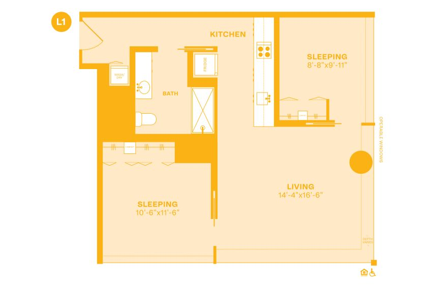 Example L floorplan